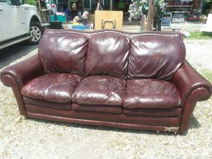 Real leather couch small issue on botto. for Sale in Cumberland, VA