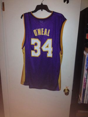 3730668d506 O neal iron pressed lakers jersey Reebok for Sale in Orangevale