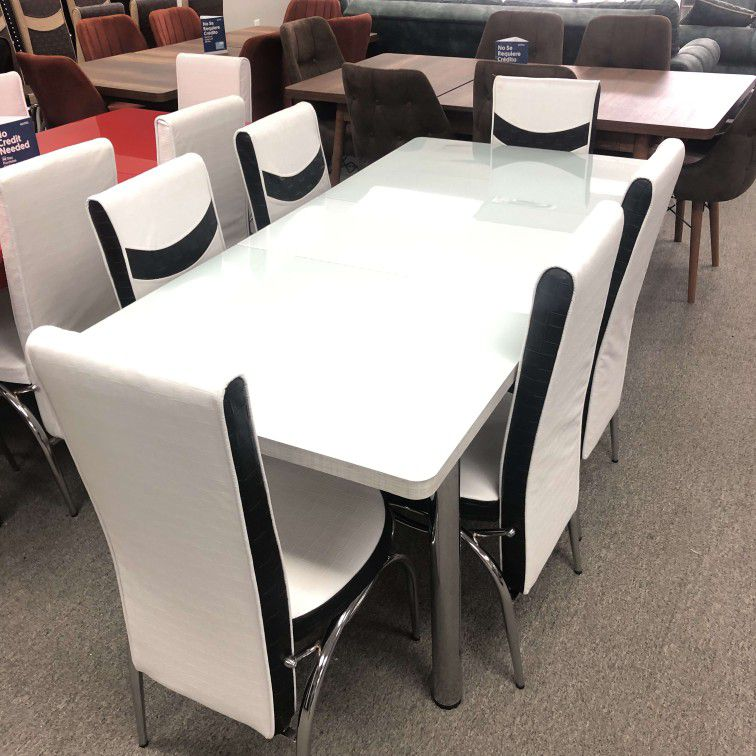 New dining set 6 Chairs And Table 7pcs (We Deliver Fast & We Finance No Credit Check Required) $385
