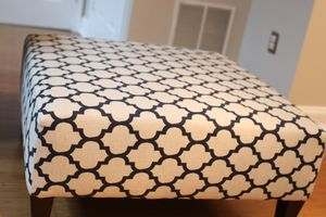 Navy and Cream Moroccan Print Ottoman for Sale in Bowie, MD