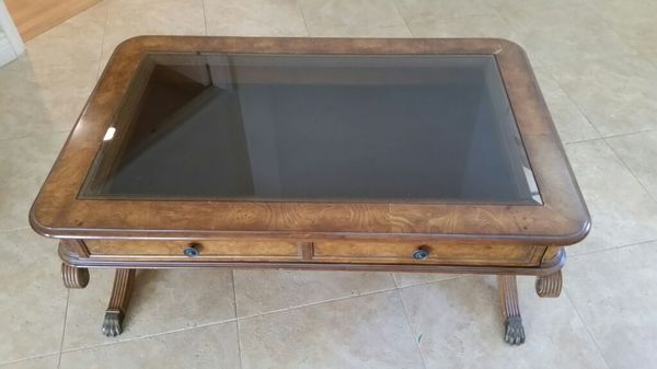 Designer Coffe Table With Pull Out Drawer