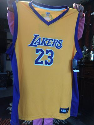 132b8736b42 XL NBA Men's Los Angeles Lakers LeBron James Nike Gold Swingman Jersey -  Icon Edition for