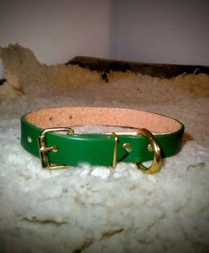 "Green Genuine Leather ""Dog Collar"" for Sale in Glendora, CA"