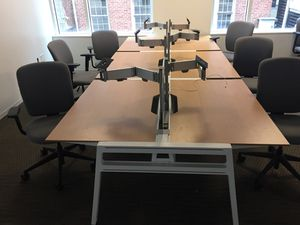 Wood and Steel table w/chairs for Sale in Washington, DC