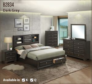 Brand new dark gray color queen size storage bedroom set for Sale in Washington, DC