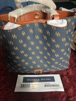 Dooney & Bourke Blue Brenna Handbag  Thumbnail