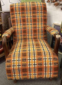Vintage Plaid Tweed Rocker Thumbnail