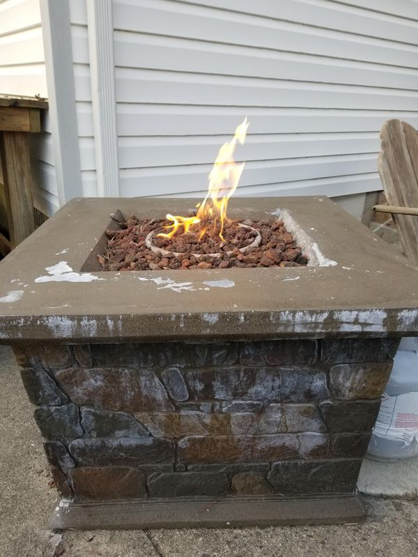 Hampton Bay Fire pit. New lava rocks included. for Sale in ...
