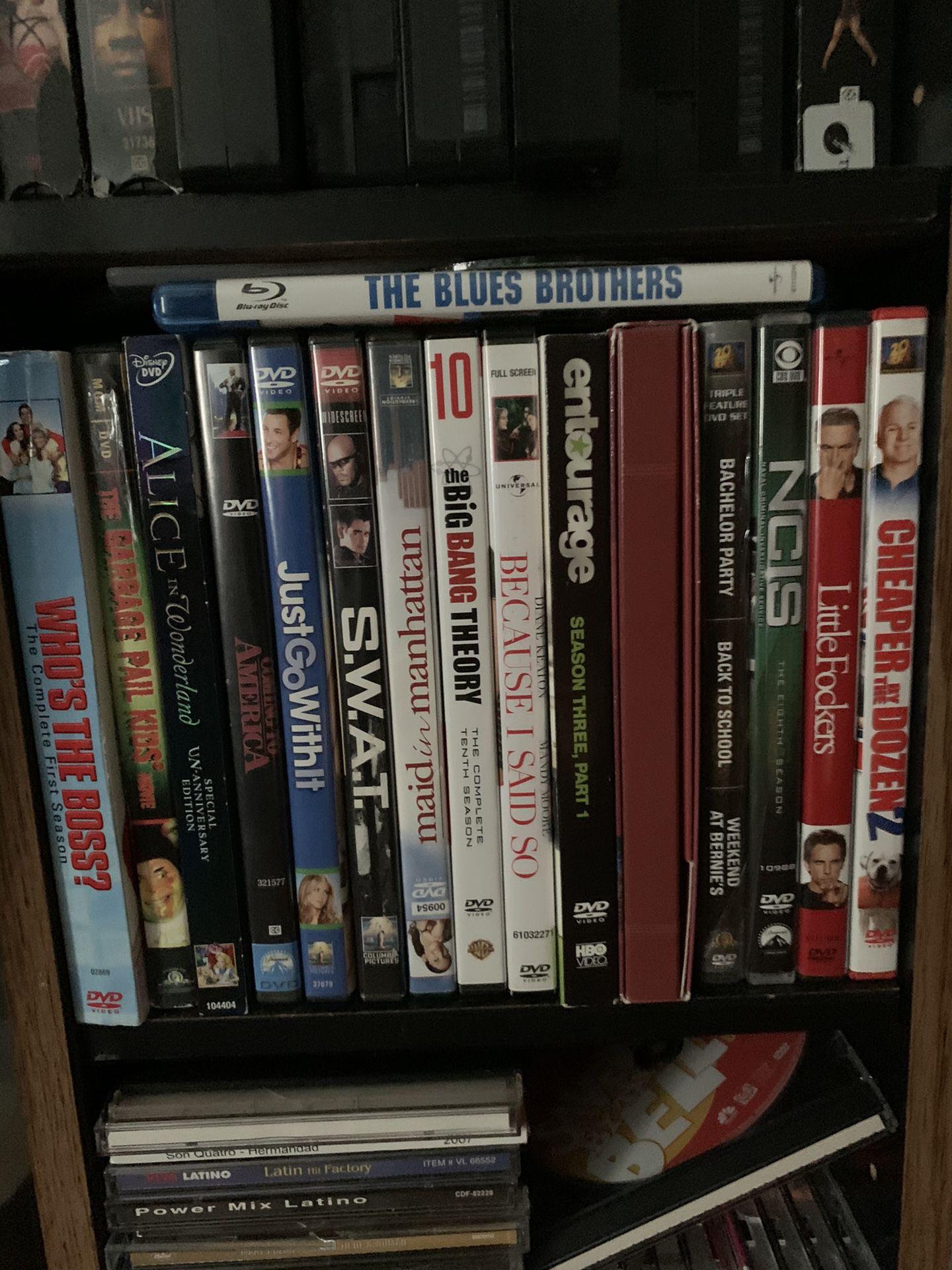 Dvds $2.50 Each