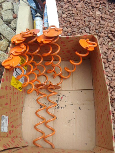 Heavy duty ground anchors (9) total for Sale in Raleigh, NC