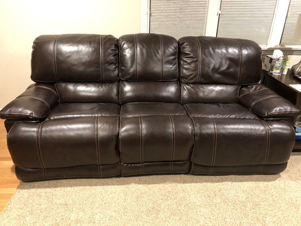 Brown leather couch set, great condition! for Sale in Seattle, WA ...