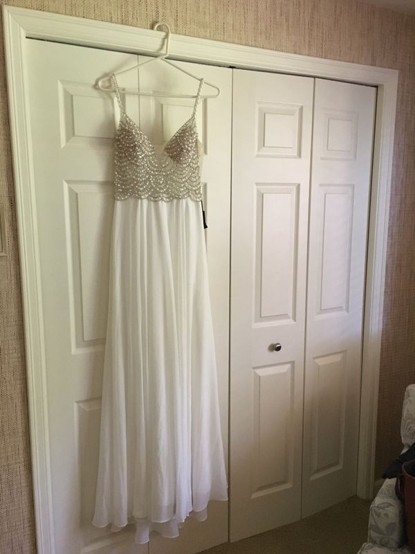 ef389411ca Brand New Lulu's White Beaded Rhinestone Maxi Dress for Sale in Seattle, WA  - OfferUp