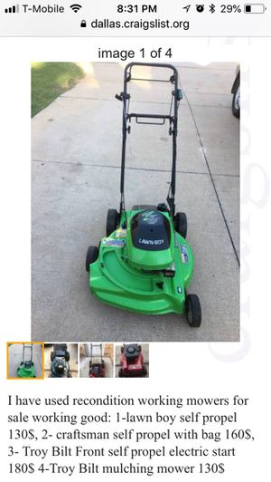 New And Used Lawn Mowers For Sale In Irving Tx Offerup