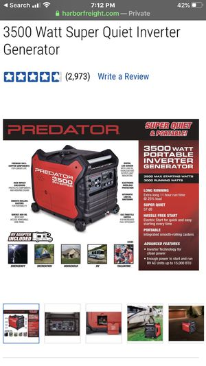 Photo Predator 3500 Inverted Generator