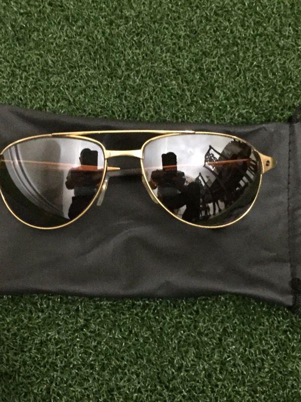 4cd3ea9721 Sun Glasses Santos De Cartier Santos Dumont Edition Gold Metal Frame ...