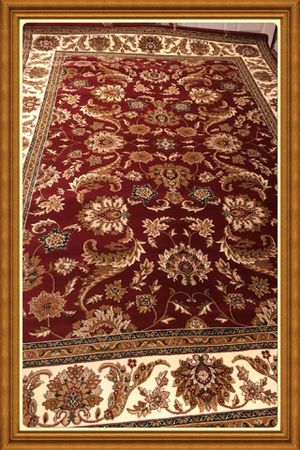 Brand traditional design rug size 8x11 nice red carpet Persian style rugs for Sale in Arlington, VA