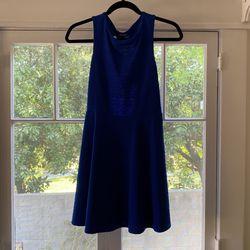 Royal Blue Forever 21 Open Back Dress Size M Thumbnail