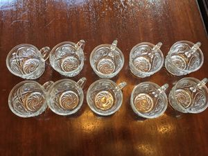 Set of 10 Beautiful Glass Punch Cups for Sale in Atlanta, GA
