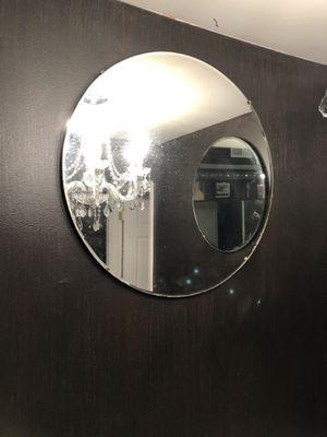 "Photo 2 vintage 24"" round beveled mirrors"