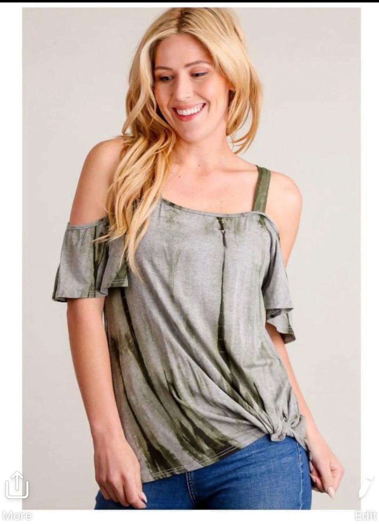 Cold shoulder boho blouse nice boho style true to size