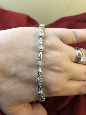 """New 1/10 Diamond Bracelet 7.5"""" I-J/13 Sterling Silver for Sale in Farmville, VA"""
