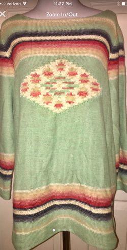 Ralph Lauren Navajo design sweater women's size large Thumbnail
