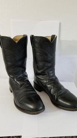Cowboy Boots, Leather Boots, Black Boots Thumbnail