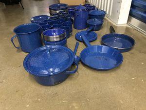 90+ blue enamelware camp set for Sale in Washington, DC