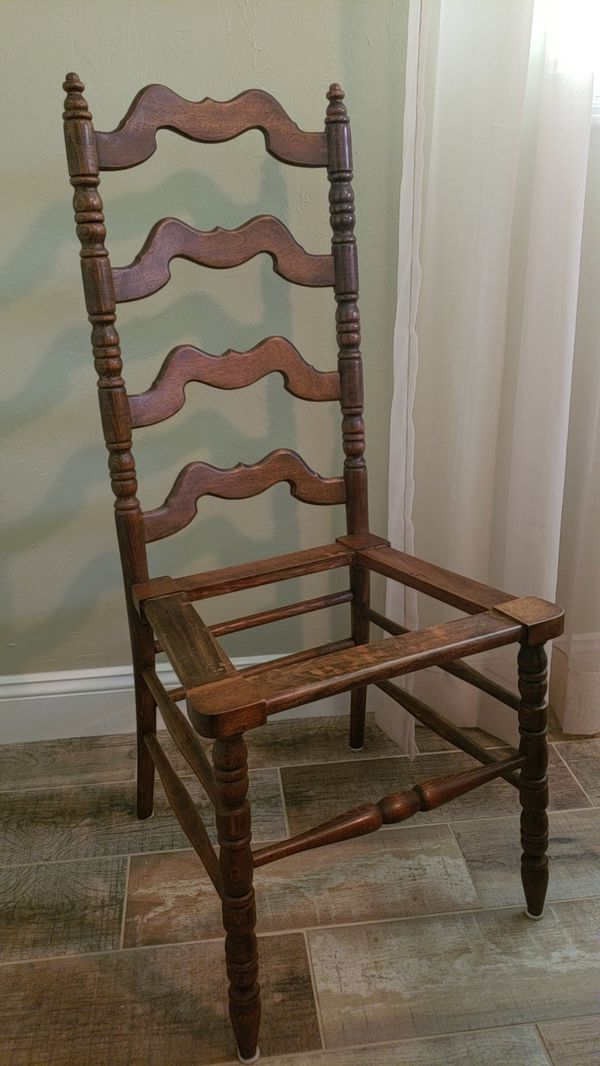 - Antique Ladder Back Chair (Antiques) In North Fort Myers, FL - OfferUp
