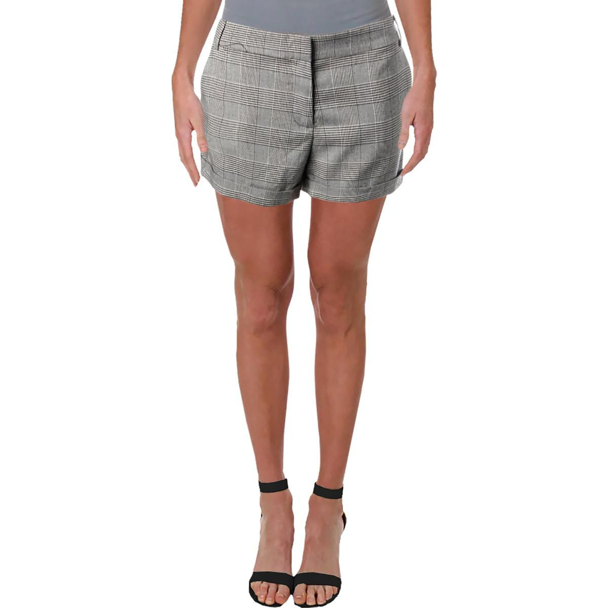 Aqua Womens Dress Shorts Black-White Size Small