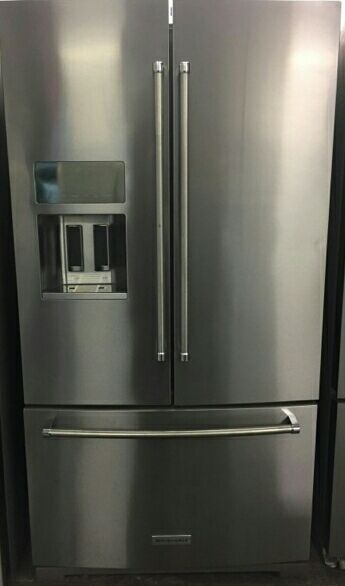 Kitchen aid stainless steel French door refrigerator with guaranteed warranty