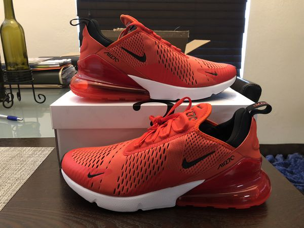 2756fc901dc7 Men s Nike Air Max 270 Habanero Red   Black - White - Challenge Red AH8050- 601 Size 12 Shoes New w  Box