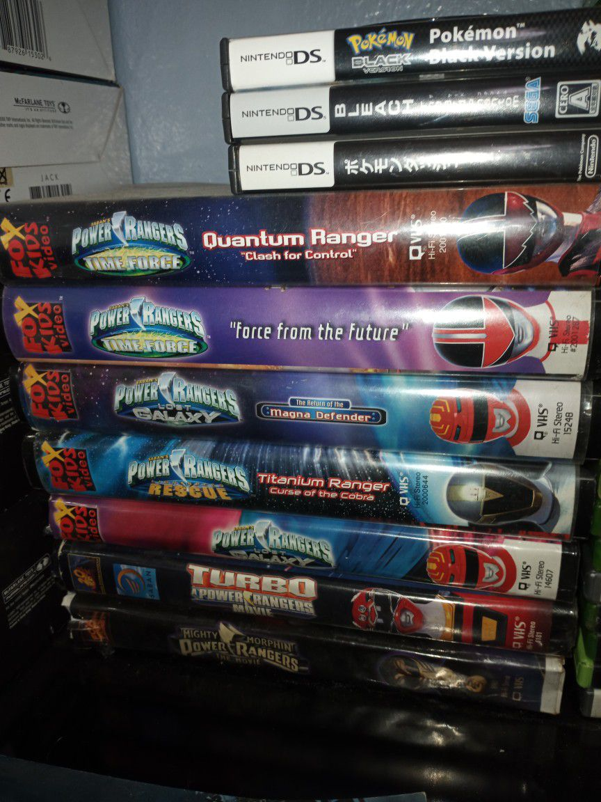 Power Rangers VHS Movies