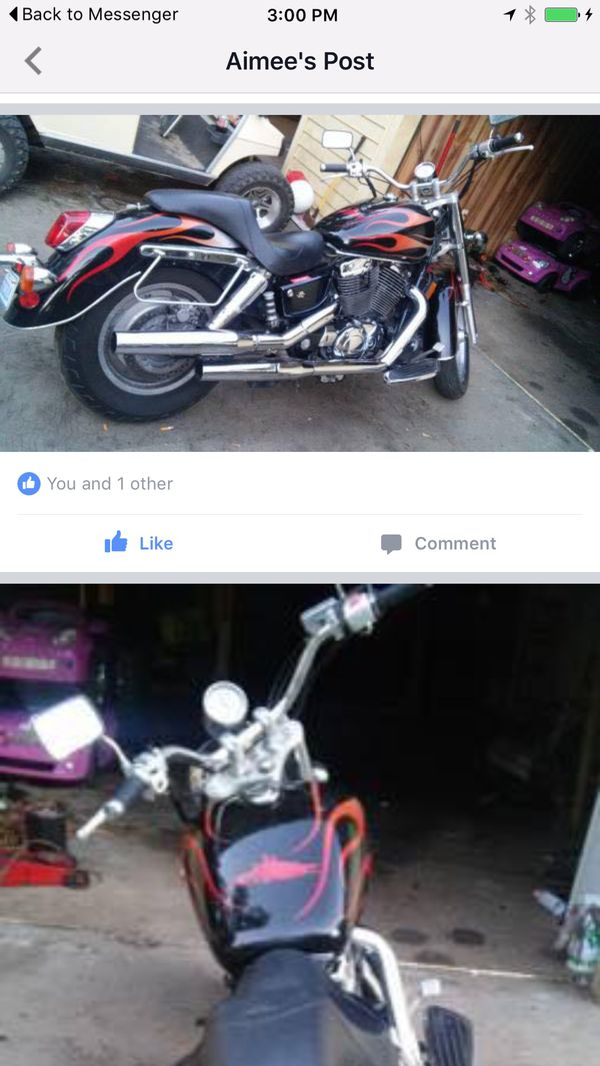 2006 honda shadow 1100 with extras $3000 : must see !!