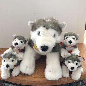 Classic original Build a Bear Husky dogs stuffed animal plush toys for Sale in Burtonsville, MD