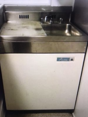 Antique ACME refrigerator freezer with sink for Sale in Silver Spring, MD