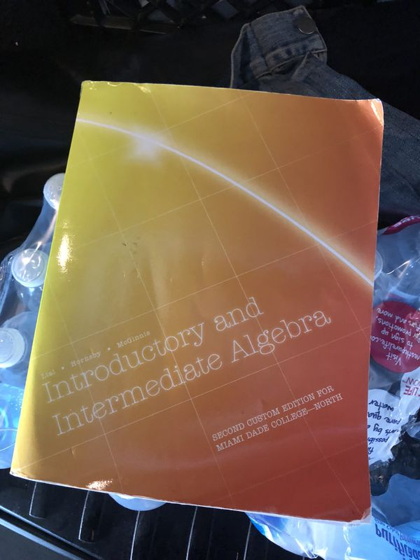 Introductory and Intermediate Algebra - MDC North for Sale in Miami ...