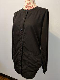 Medium Size- All Black Grey's Anatomy Scrub Jacket Thumbnail