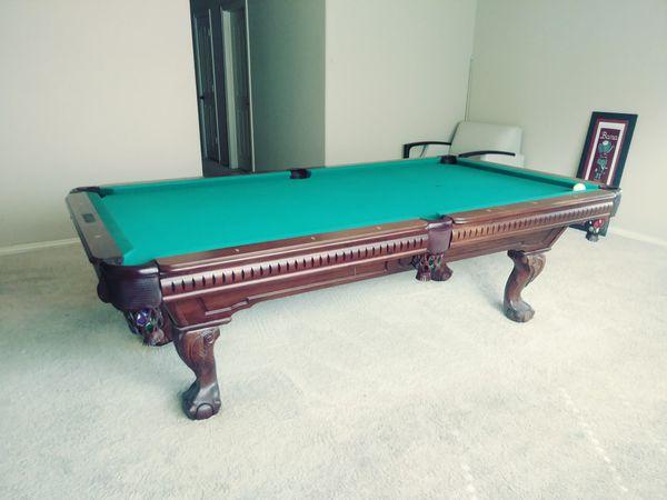 Custom Teak Wood Italian Slate Pool Table For Sale In Grand Prairie - Italian pool table