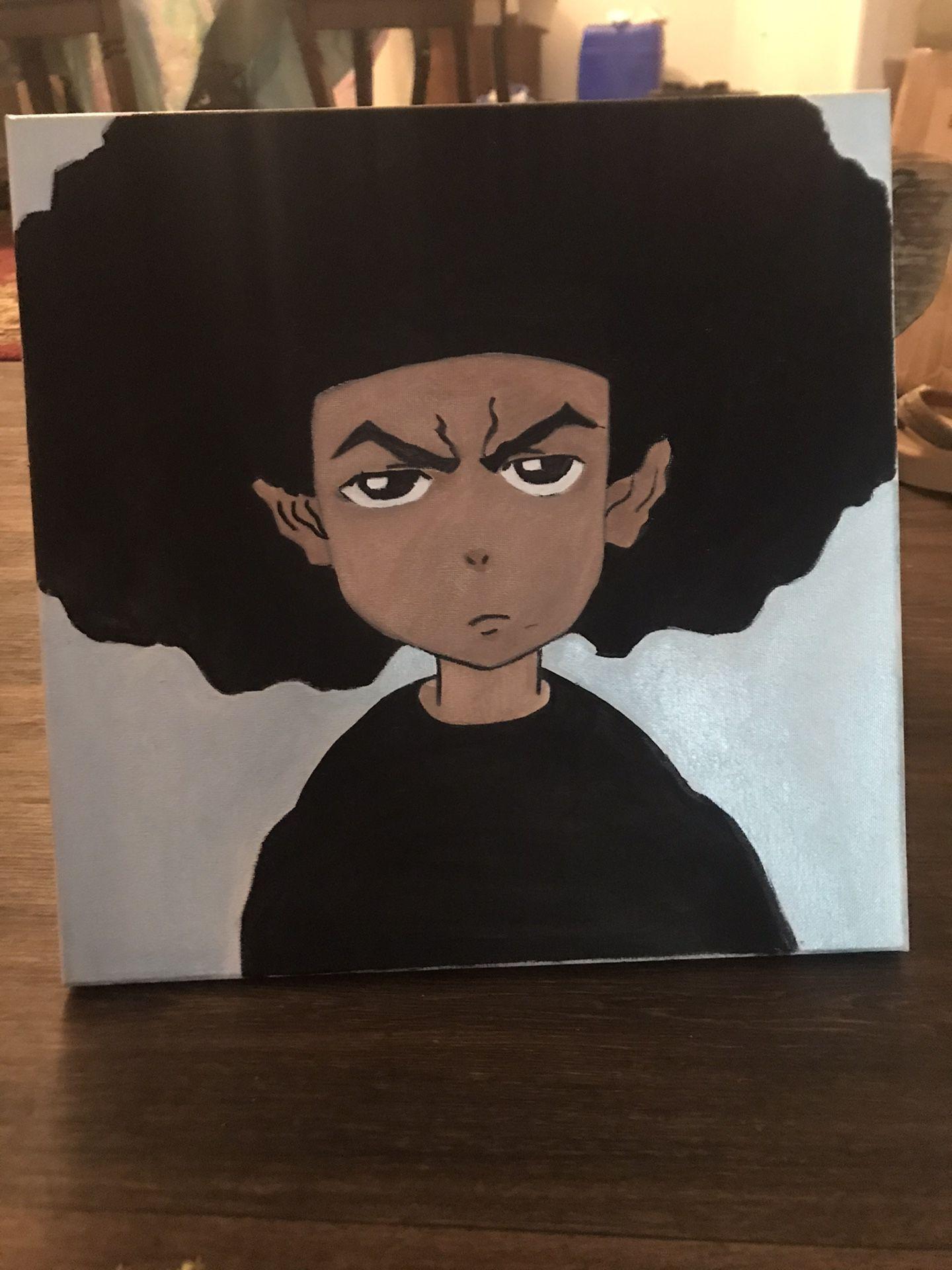 Huey Freeman Boondocks Painting