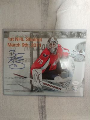 Braden Holtby JSA authenticated 1st NHL shutout 8×10 autograph photo for Sale in Falls Church, VA