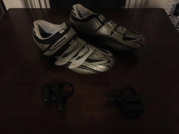 9fc0d1c3075 Shimano SPD-SL shoes with pedals for Sale in Harrisburg