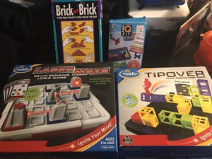 Puzzle games laser maze, tipover etc for Sale in Sterling, VA