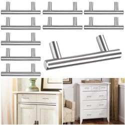 """6"""" inches - 10Pcs Stainless Steel Cabinet Bar Pull Handles Thumbnail"""