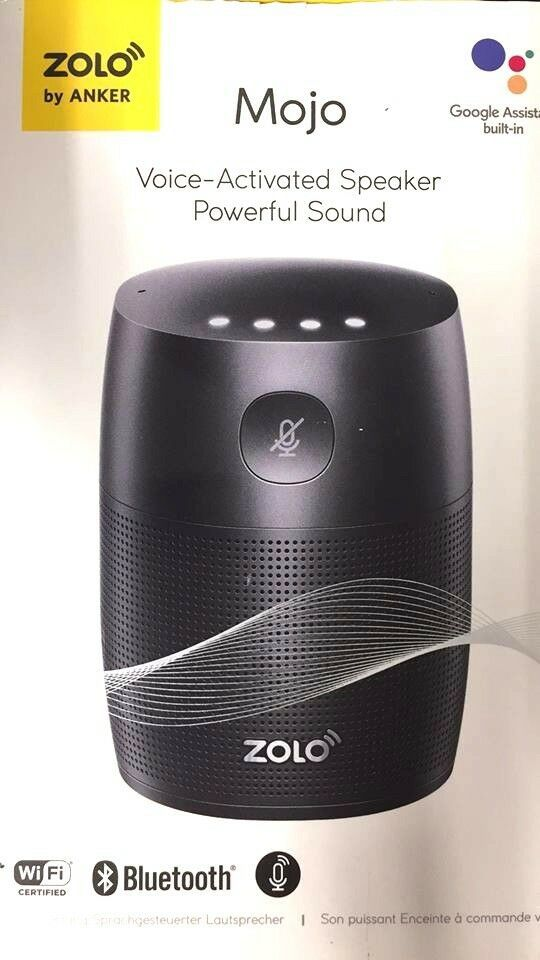 zolo mojo by anker google assistant chromecast bluetooth. Black Bedroom Furniture Sets. Home Design Ideas