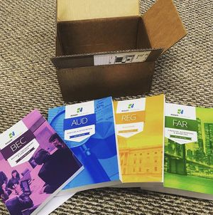 CPA review courses Roger CPA books FAR+ BEC + AUD + REG for Sale in Washington, DC