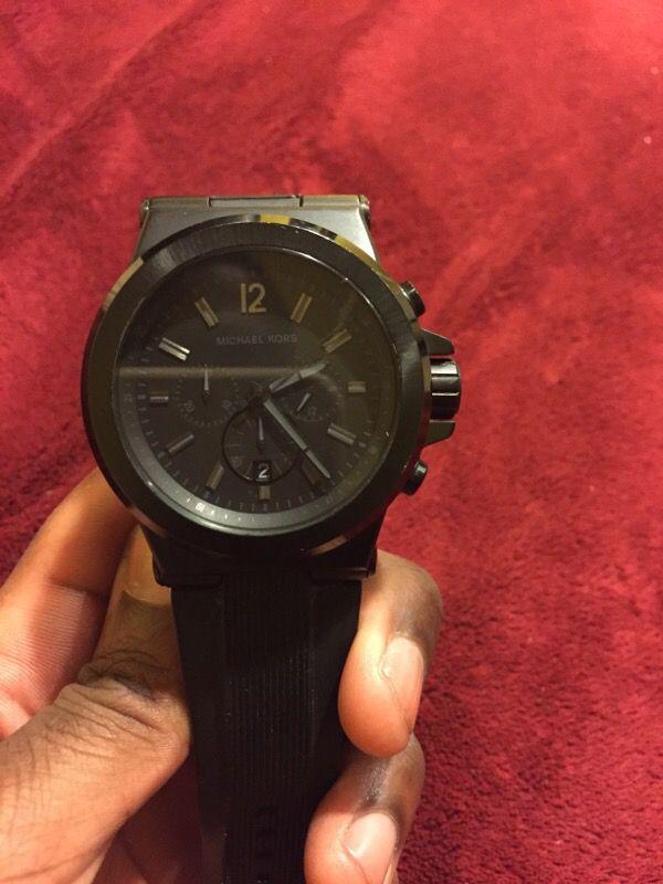 4b8126314201 All black Michael Kors rubber band watch!! for Sale in Elizabeth