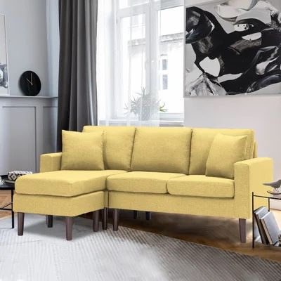 Brand New Small Yellow Sectional