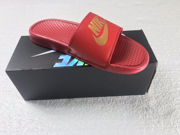 7269ff49460c Nike Slides Red and Gold for Sale in Sunrise