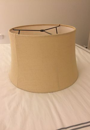 Pottery Barn Burlap lamp shade for Sale in Washington, DC